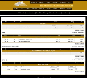 SportsBetsOnline Betting Interface